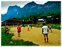 Sports: Village Volleyball in Ba Be, April 2010